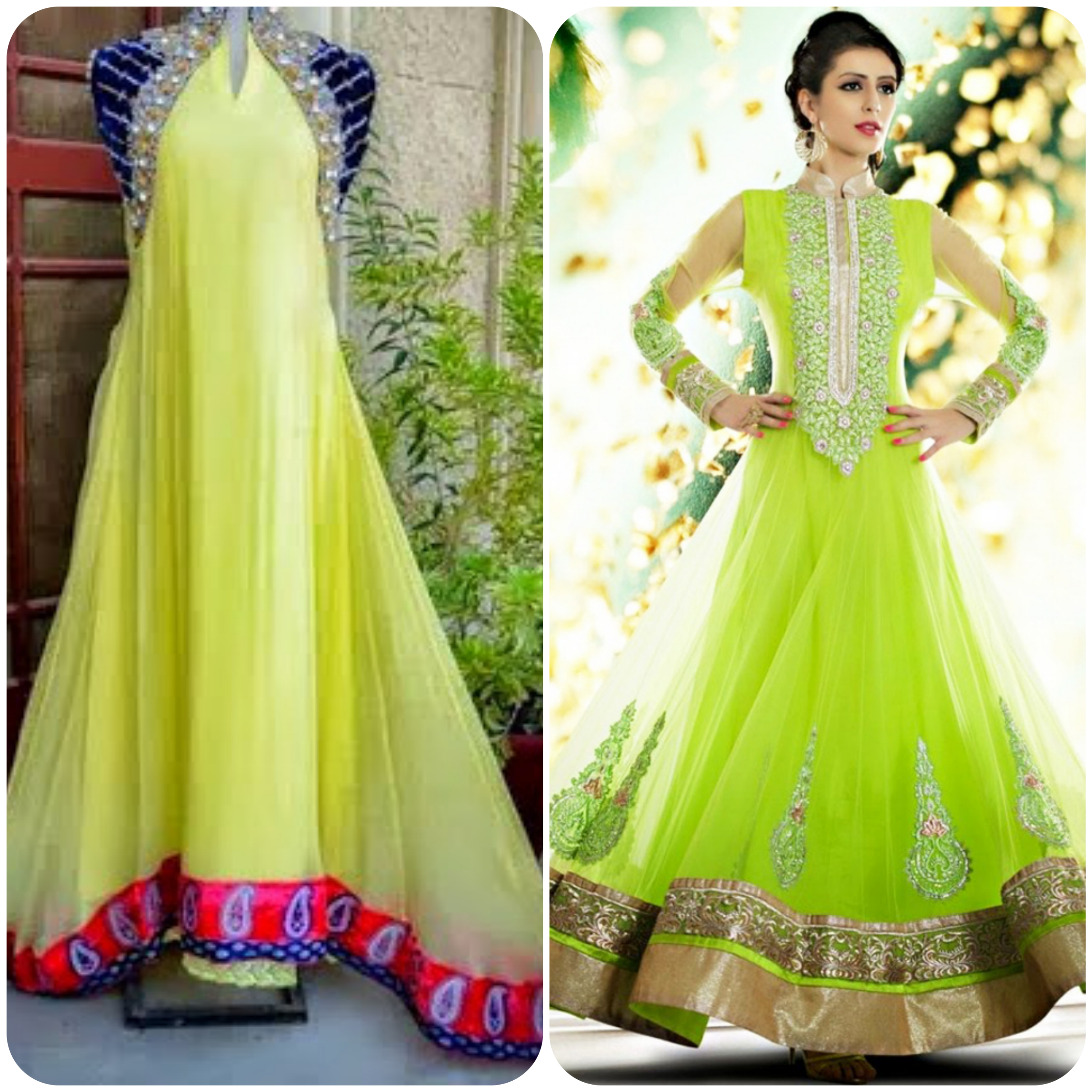 best design dress for bridal on mehndi function event