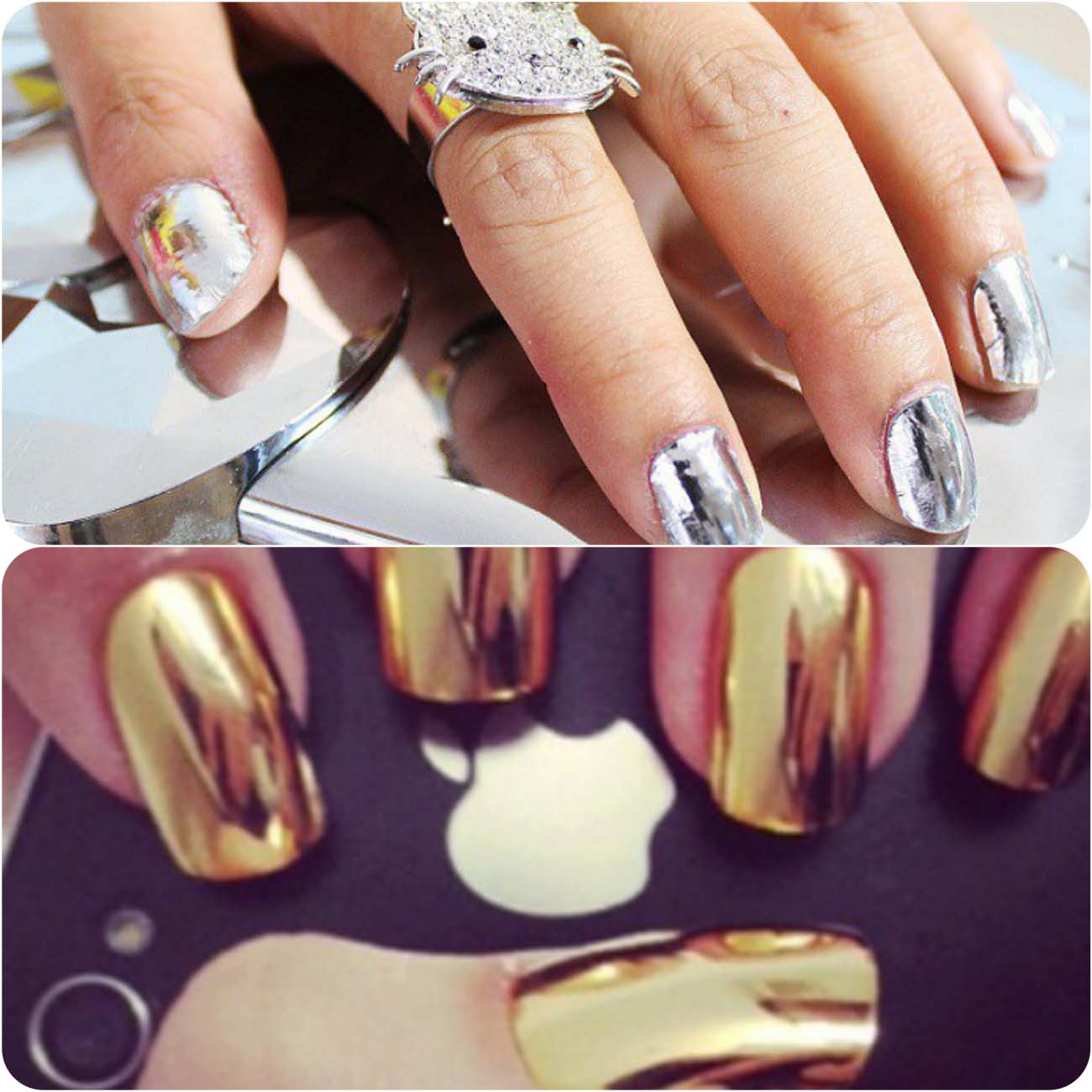 Best Dazzling Reflecting Nail Art Designs For Girls....styloplanet (15)