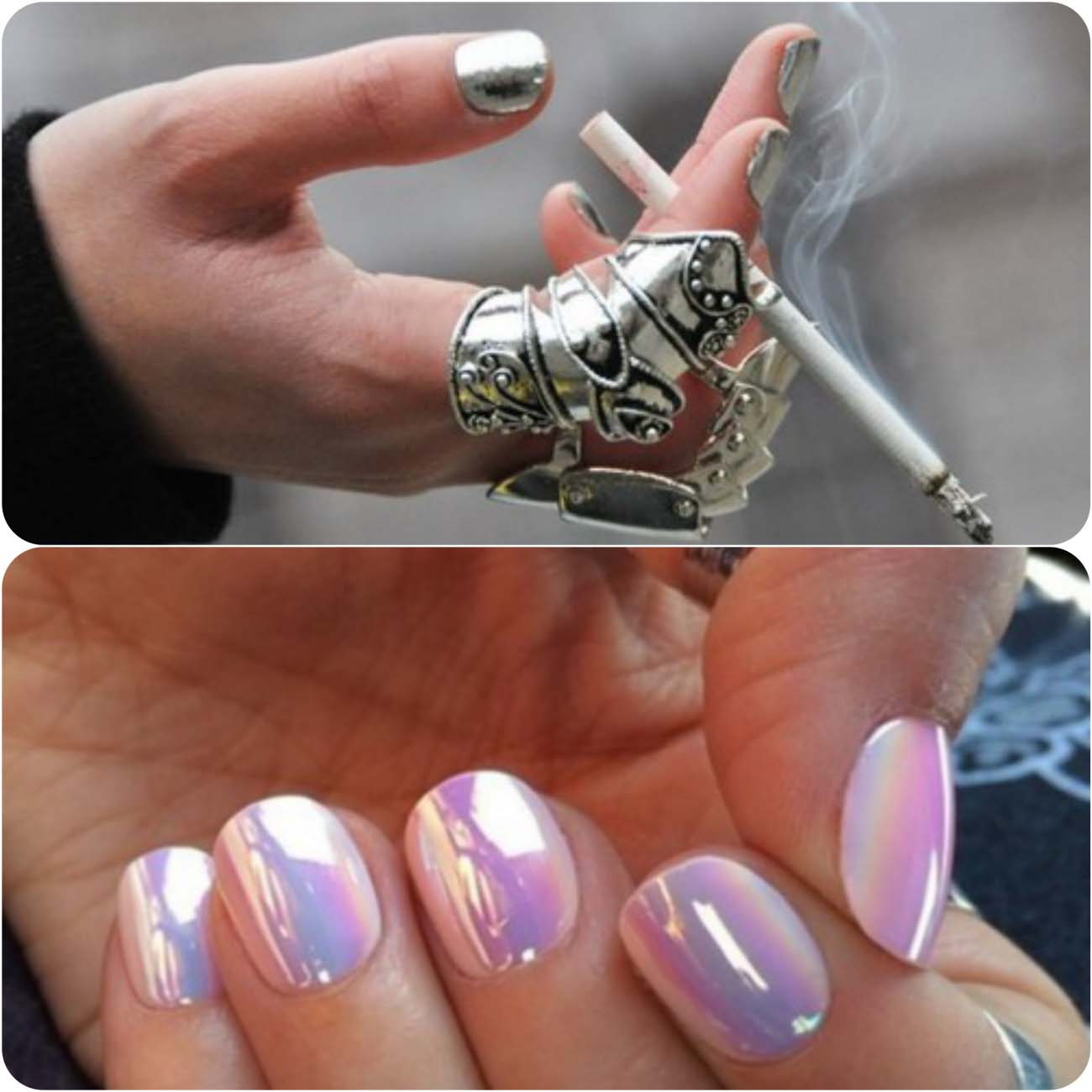 Best Dazzling Reflecting Nail Art Designs For Girls....styloplanet (7)