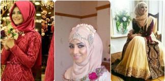 latest bridal hijab collection 2016