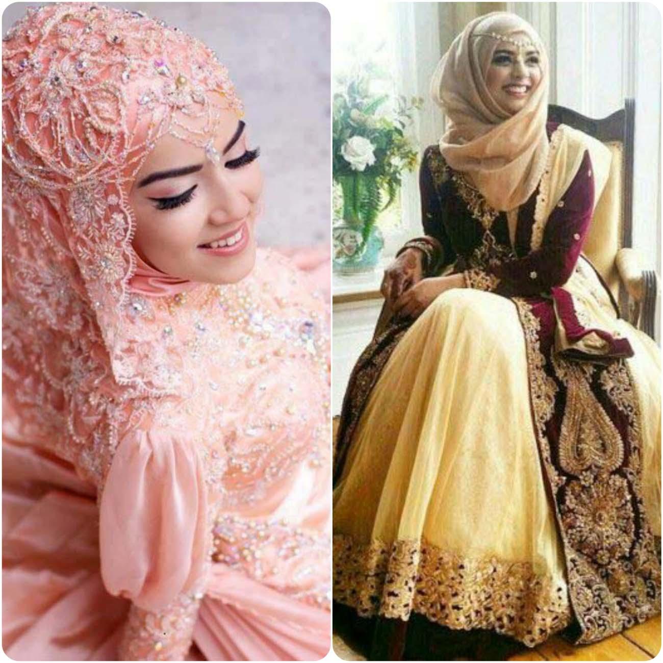 Mehndi Dress With Hijab : Bridal hijab fancy dresses designs stylo planet