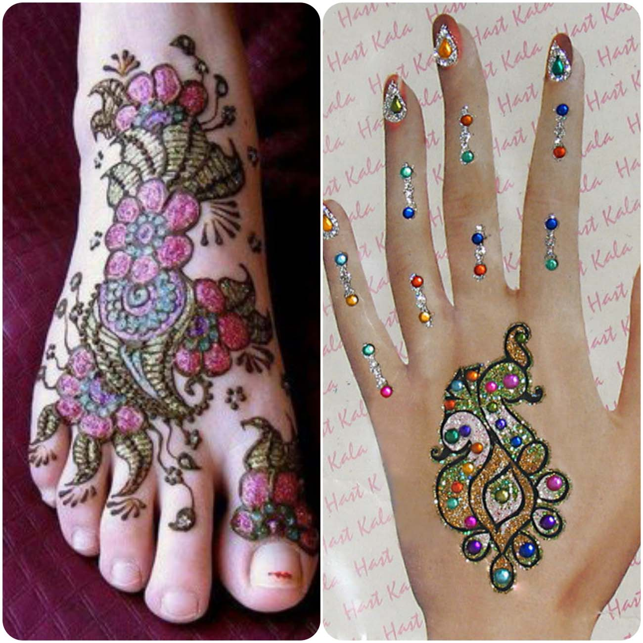Unique Mehndi Designs 2016 : Latest glitter henna designs for women stylo planet
