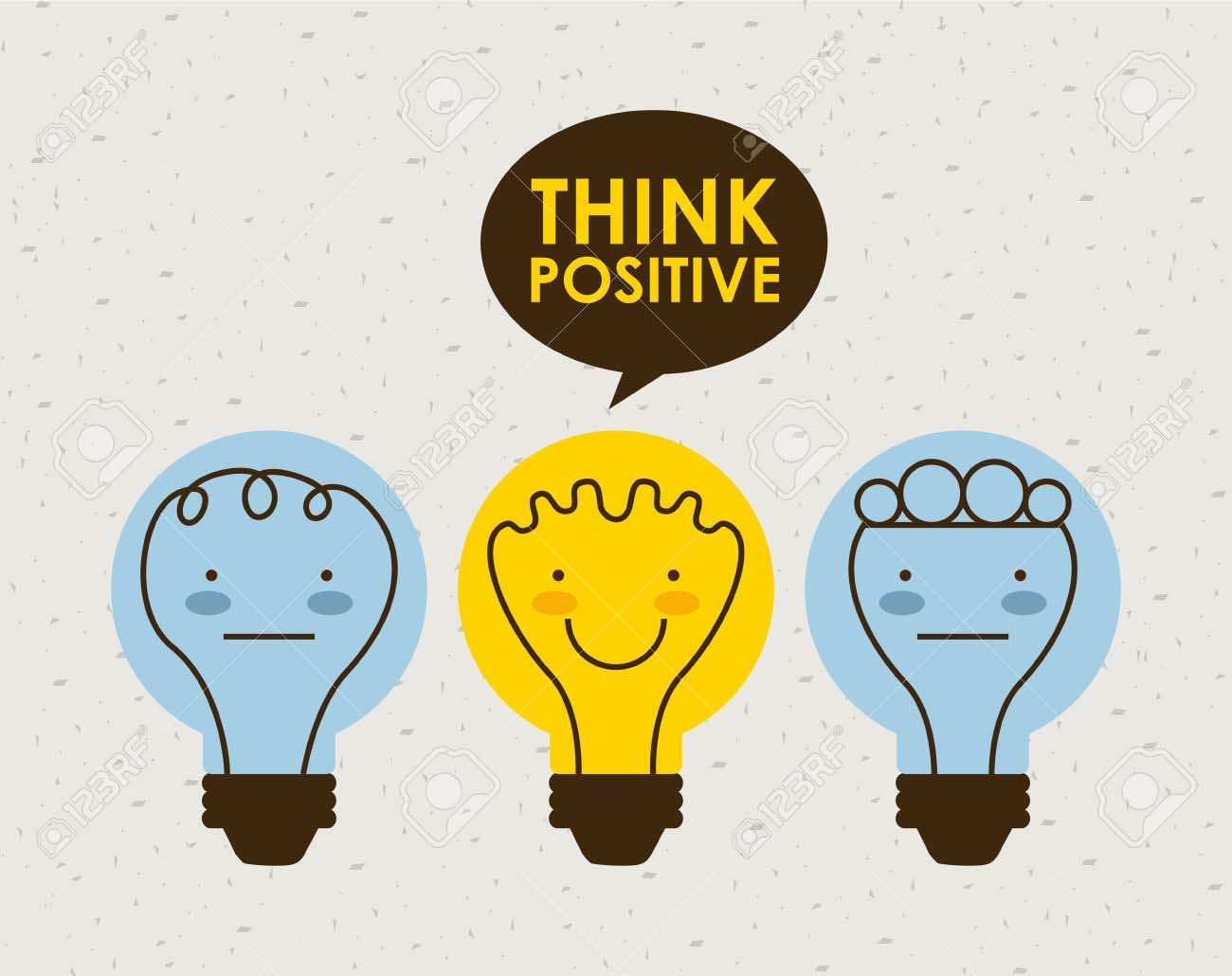 think positive graphic design , vector illustration