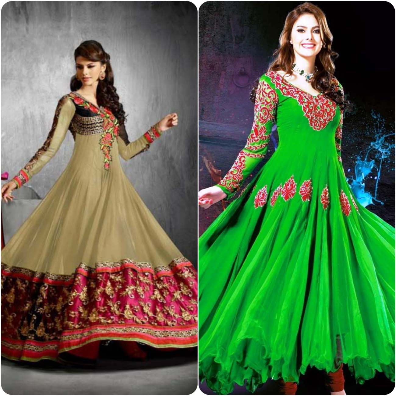 Umbrella Frocks Dress Designs and Styles Collection 2016-2017....styloplanet (10)