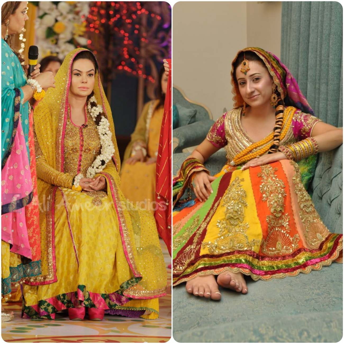Mehndi Bridal Dress Design : Mehendi dresses for asian brides stylo planet