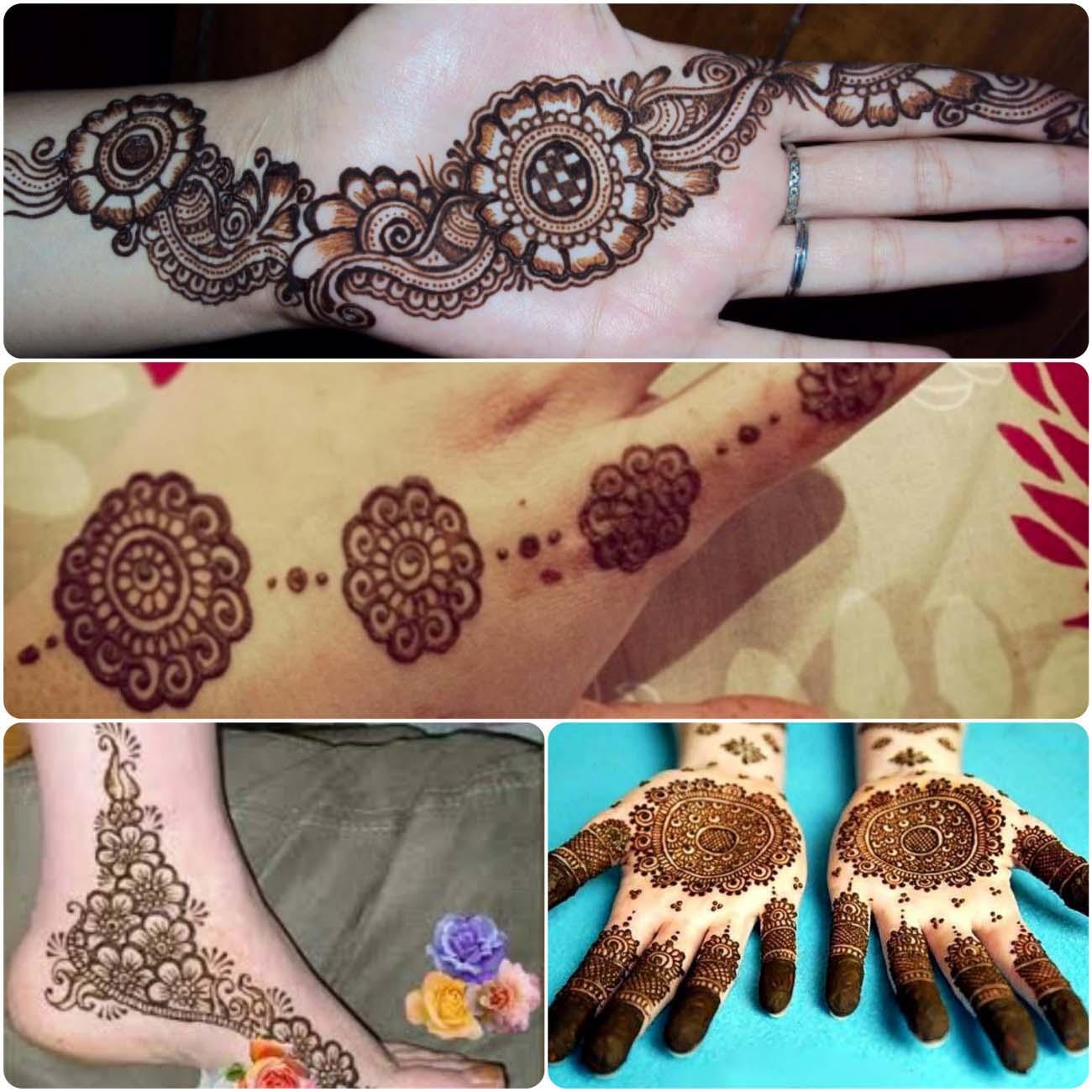 Mehndi Designs For Hands Tikki : Latest popular round tikki mehndi deesigns stylo planet