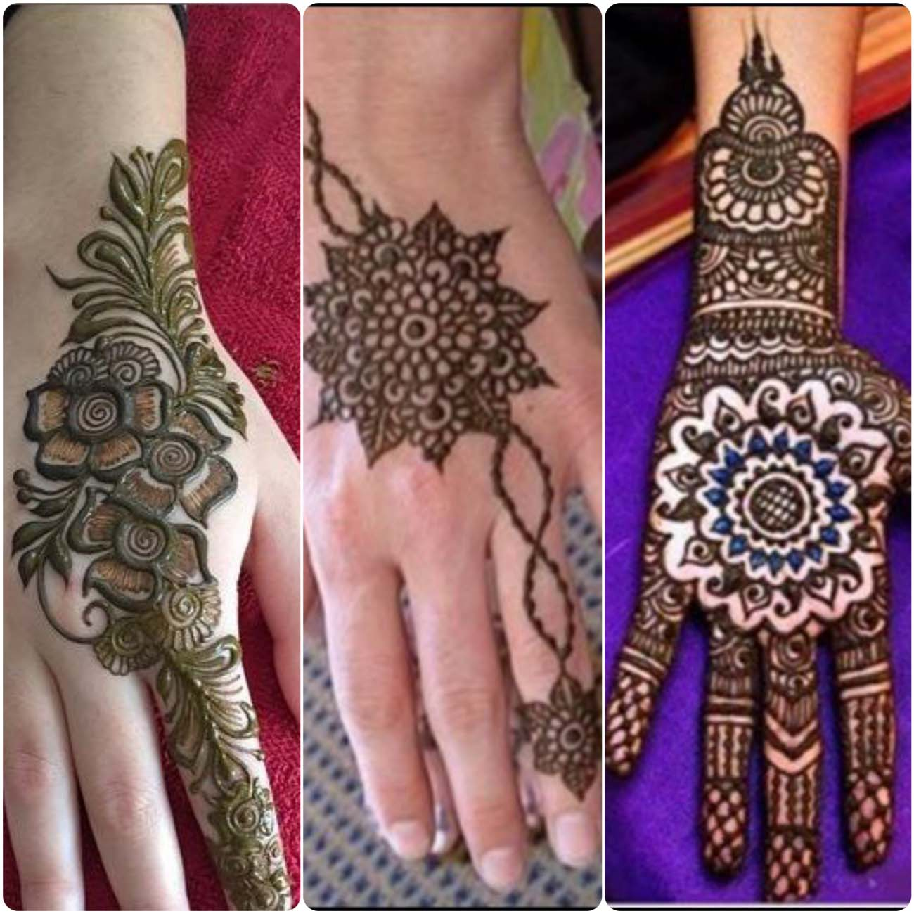 Best Round Tikki Mehndi Styles For Girls Hands 2016-2017