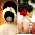 indian bun hairstyles for brides