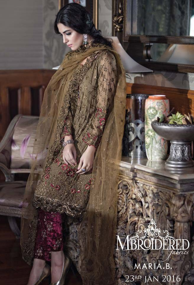 Maria. b Latest Embroidered Luxury Dresses Collection 2016-2017...styloplanet (18)
