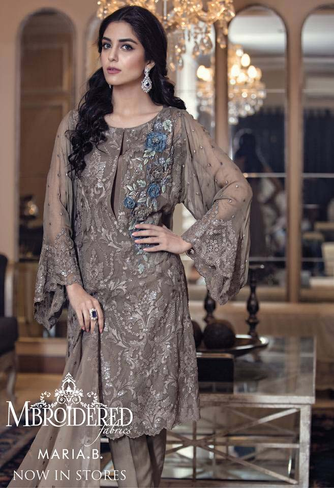 Maria. b Latest Embroidered Luxury Dresses Collection 2016-2017...styloplanet (19)