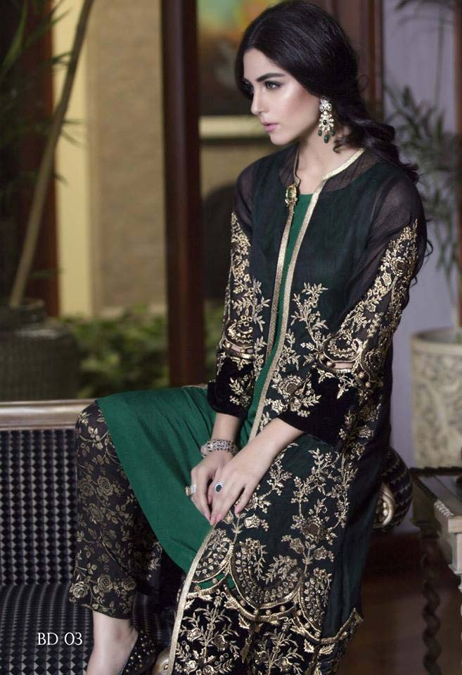 Maria. b Latest Embroidered Luxury Dresses Collection 2016-2017...styloplanet (24)