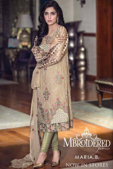 Maria. b Latest Embroidered Luxury Dresses Collection 2016-2017...styloplanet (4)
