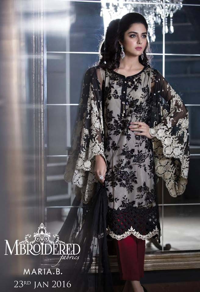 Maria. b Latest Embroidered Luxury Dresses Collection 2016-2017...styloplanet (5)