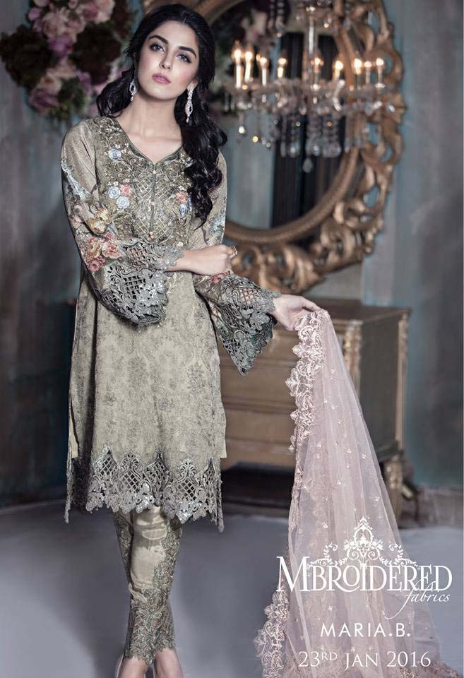 Maria. b Latest Embroidered Luxury Dresses Collection 2016-2017...styloplanet (6)