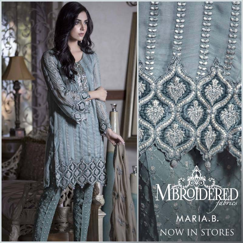 Maria. b Latest Embroidered Luxury Dresses Collection 2016-2017...styloplanet (7)
