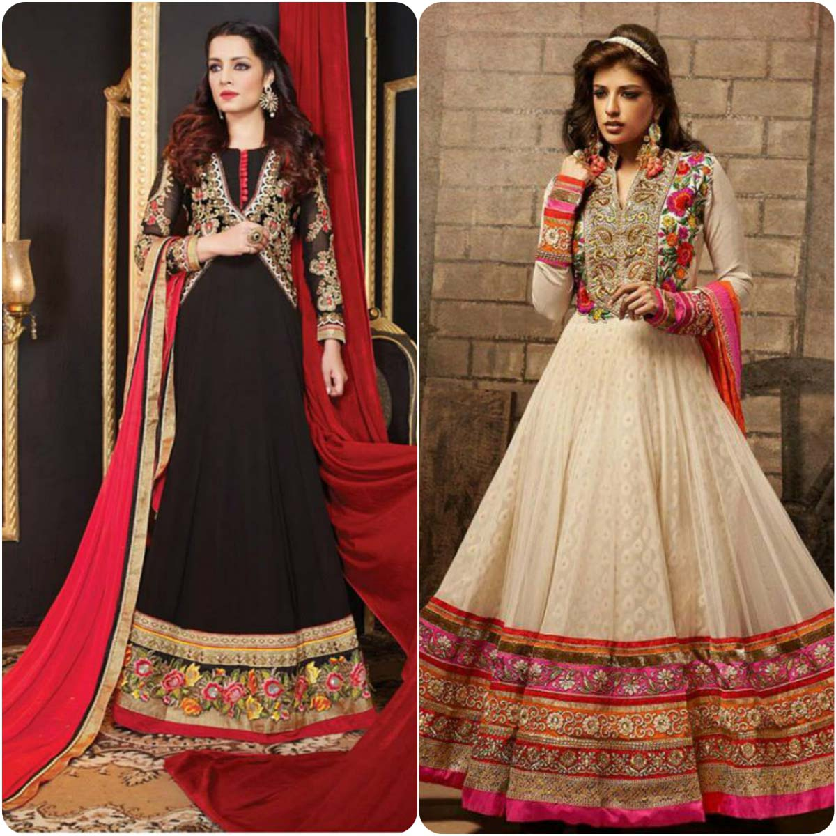 anarkali frocks designs collection