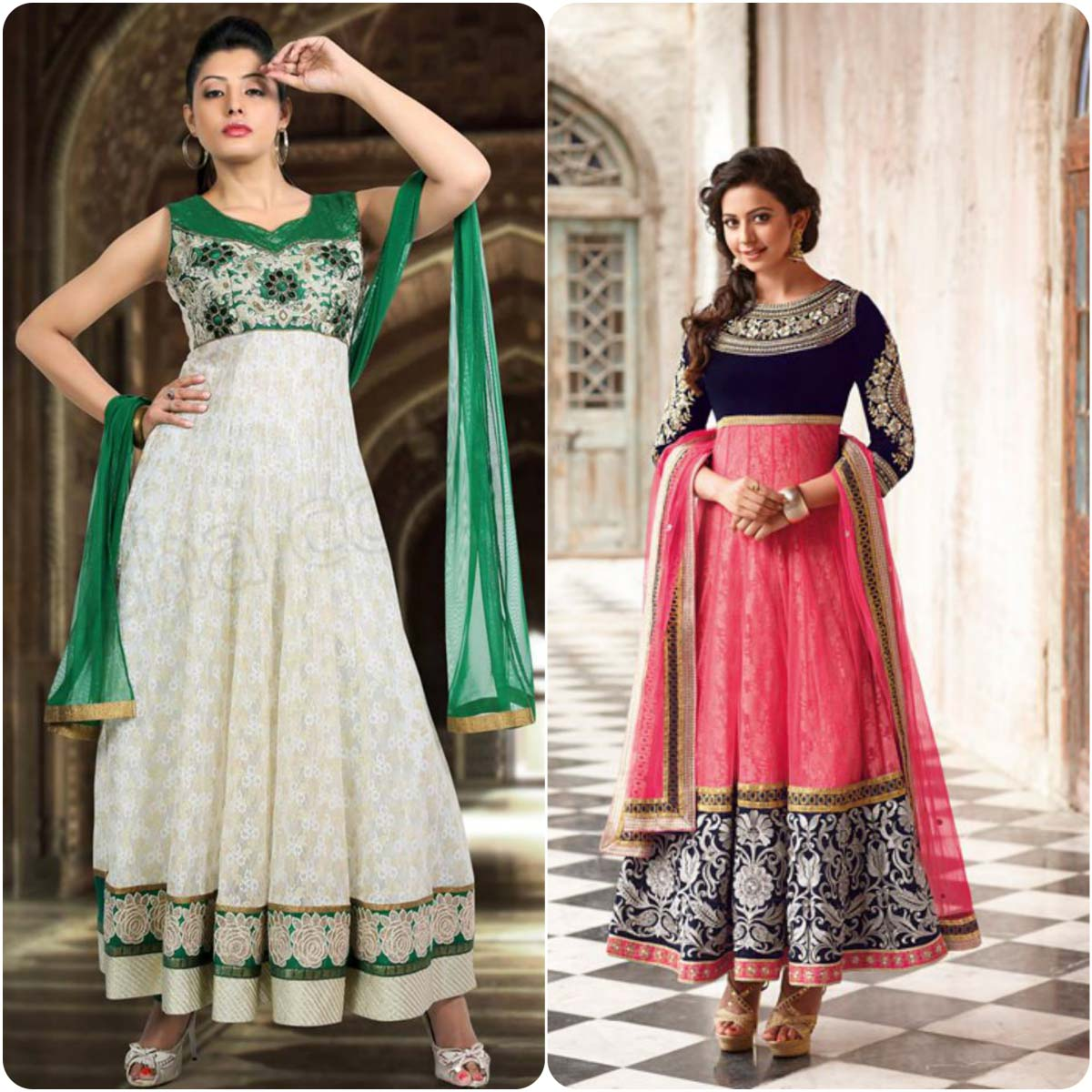 party wear anarkali frocks