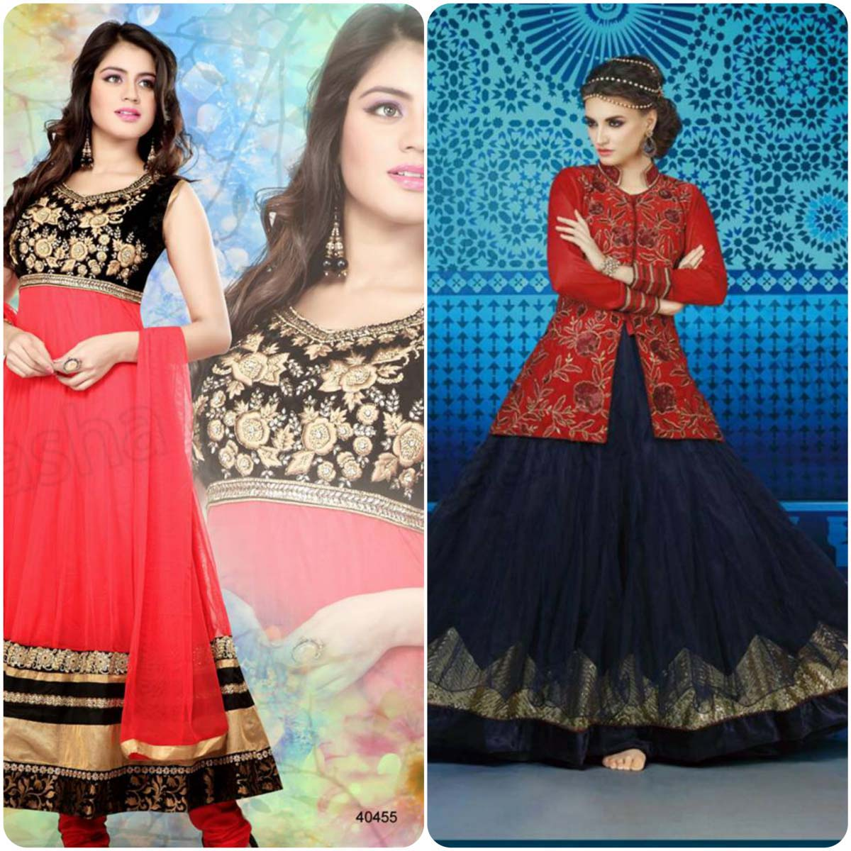 latest Indian anarkali frocks 2016-2017