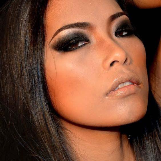 Black Smokey Eyes Makeup Step By Step- Tutorial (18)