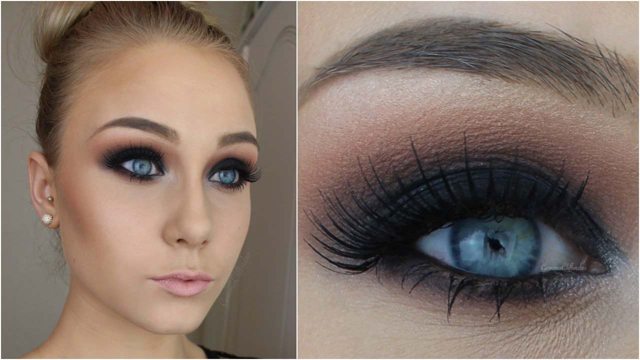 Black Smokey Eyes Makeup Step By Step- Tutorial (3)