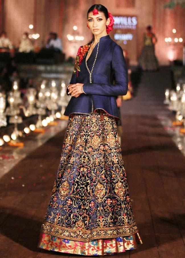 Lehenga from Rohit Bal's 'Gulbagh' collection, inspired by the rich and lush Mughal gardens of Kashmir...styloplanet.com