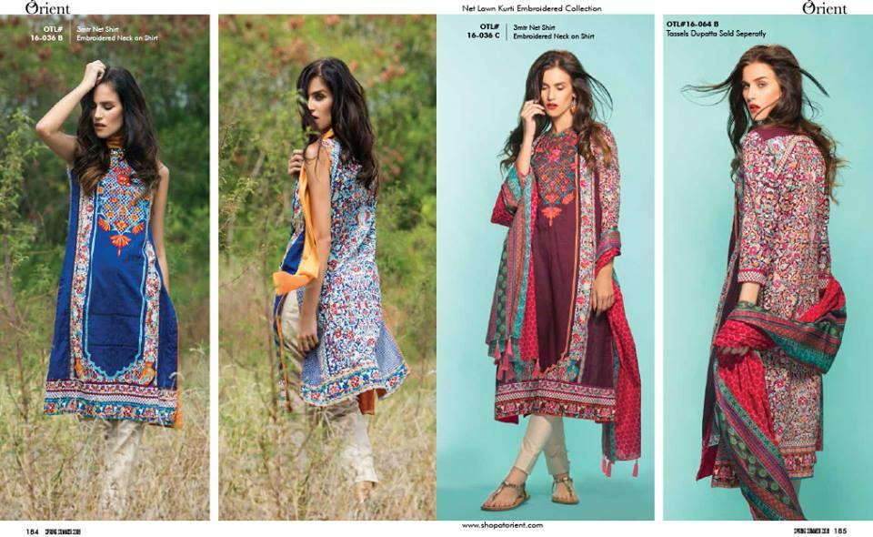 21a6340bdff3 Latest Kurtis Collection By Orient Textiles