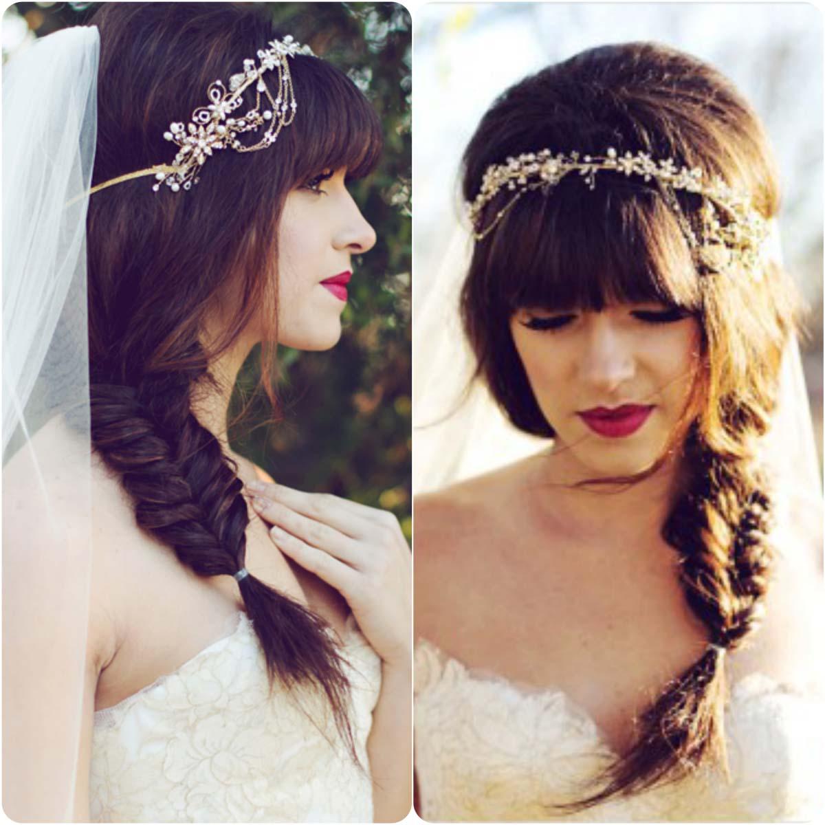side braid with tiara