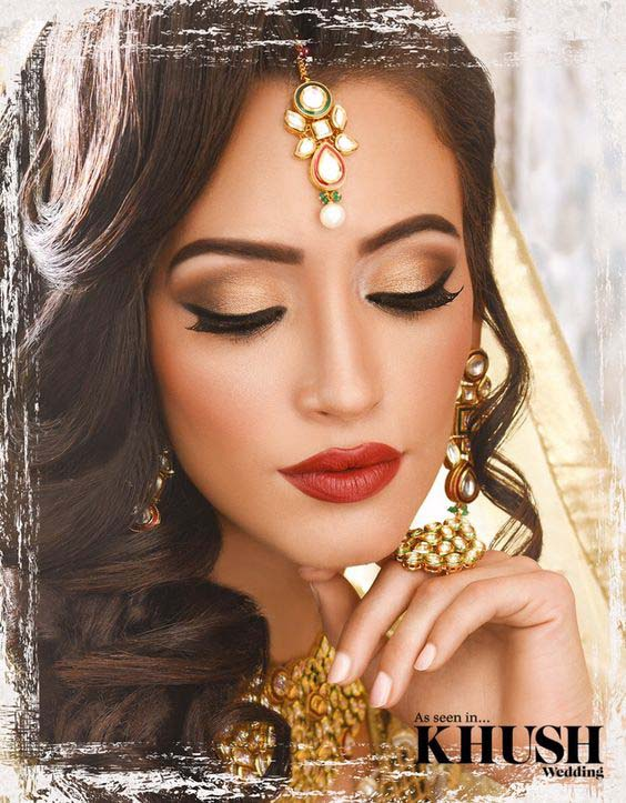 Complete Wedding Makeup G2671 : Bridals Engagement Dresses and Makeup Ideas Stylo Planet