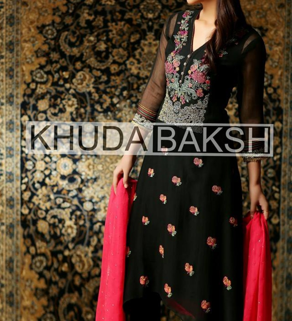 Khuda Baksh Latest Party Wear Collection For Women 2016-2017 (14)