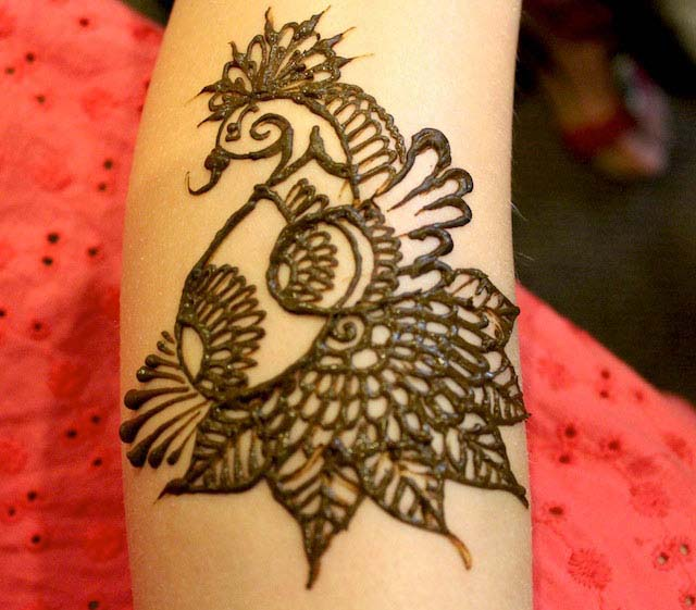 Latest Peacock Mehndi Designs For Girls 2016-2017 (35)