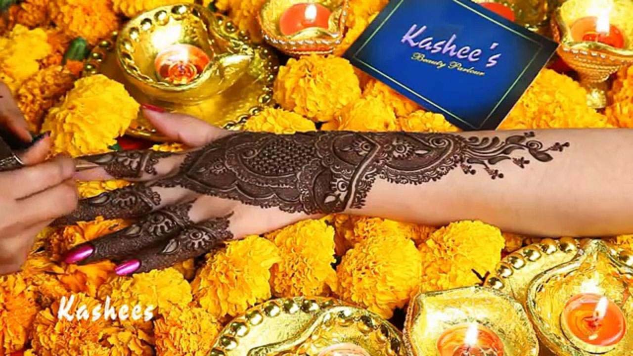Mehndi Hairstyles S : Kashee s beautiful mehndi designs for girls stylo planet