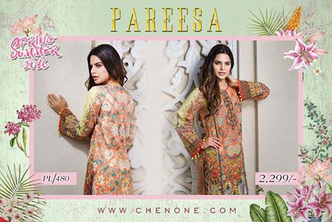 Pareesa By Chen One Spring Summer Lawn Collection 2016-2017 (1)