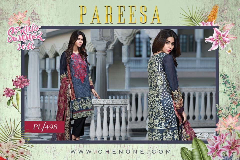 Pareesa By Chen One Spring Summer Lawn Collection 2016-2017 (5)