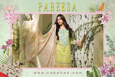 Pareesa By Chen One Spring Summer Lawn Collection 2016-2017 (7)