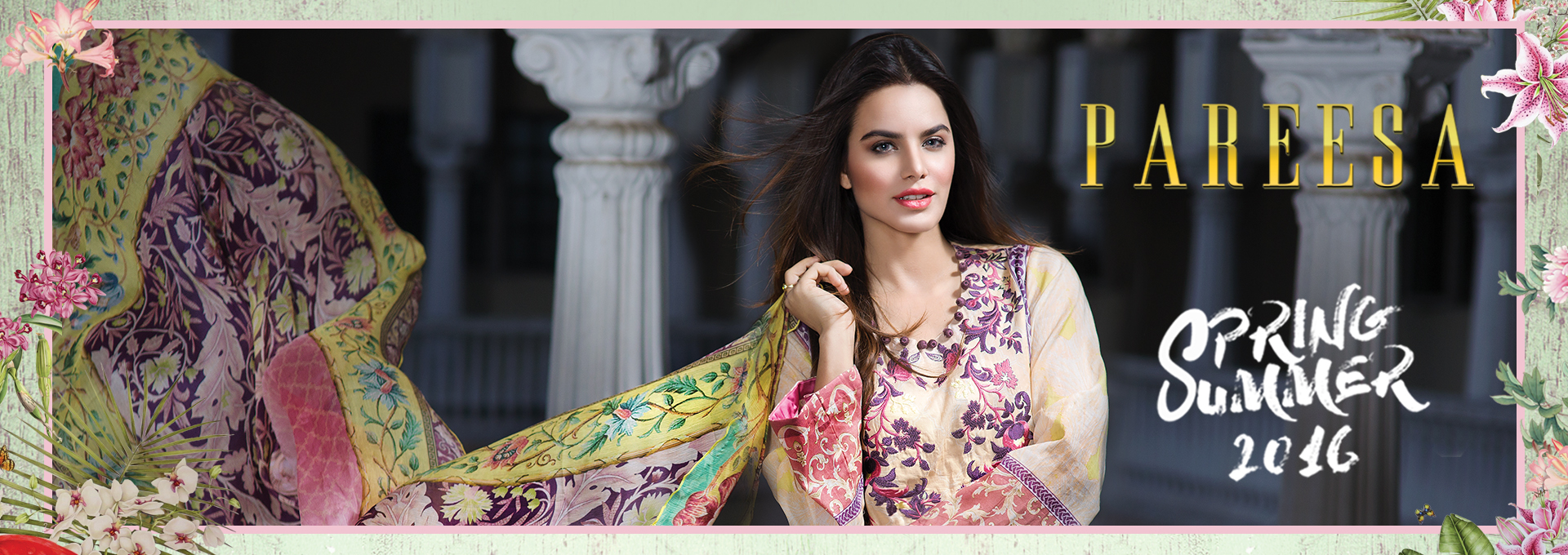 Pareesa By Chen One Spring Summer Lawn Collection 2016-2017