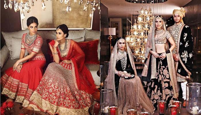 Latest Indian Designers Barat Dresses for Wedding Brides 2016-2017 (29)