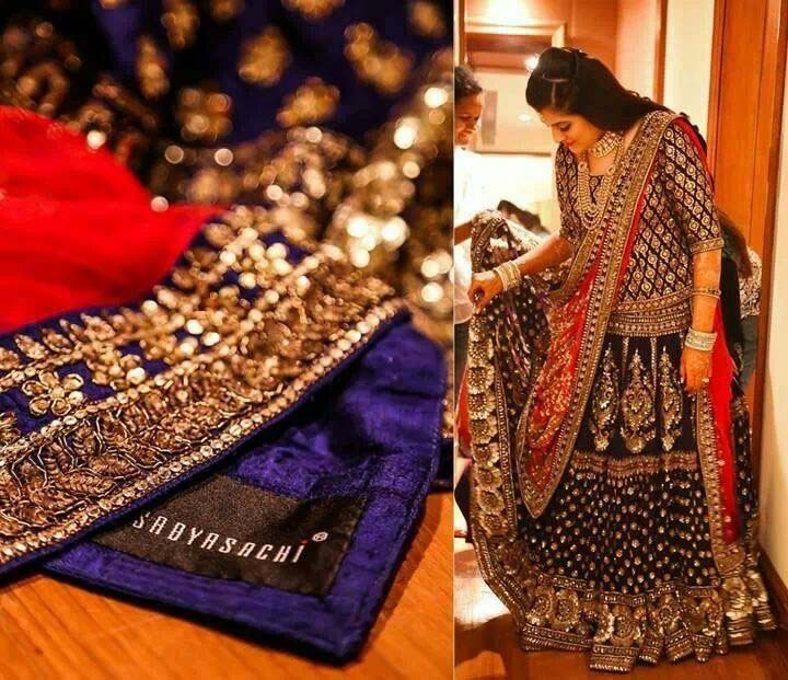 Latest Indian Designers Barat Dresses for Wedding Brides 2016-2017 (30)