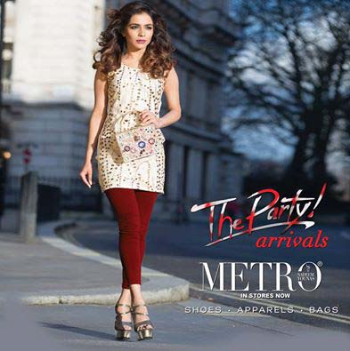 Metro Shoes Stylish Summer Footwear, Clutches and Bags Collection 2016-2017