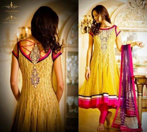 Beautiful Yellow Mehndi Dresses for Wedding Brides 2016-2017 (17)