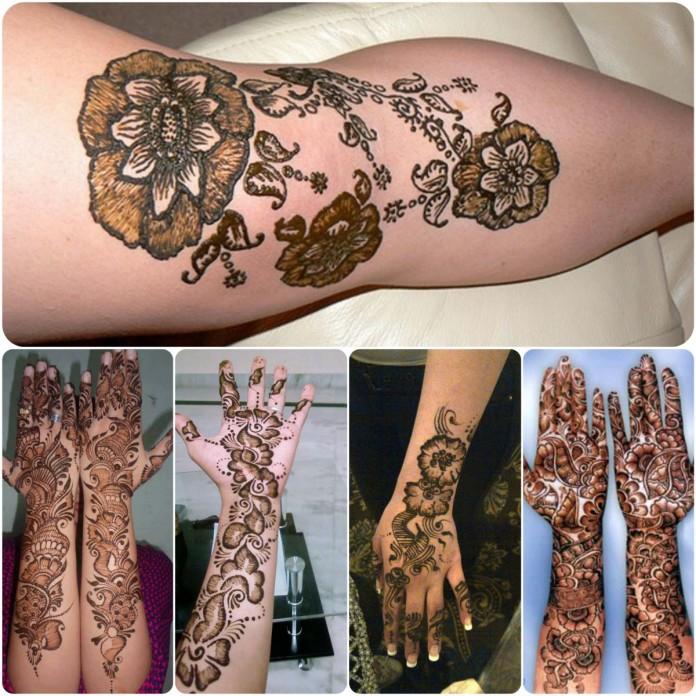 Latest Shaded Henna Mehndi : Mehndi design shaded makedes