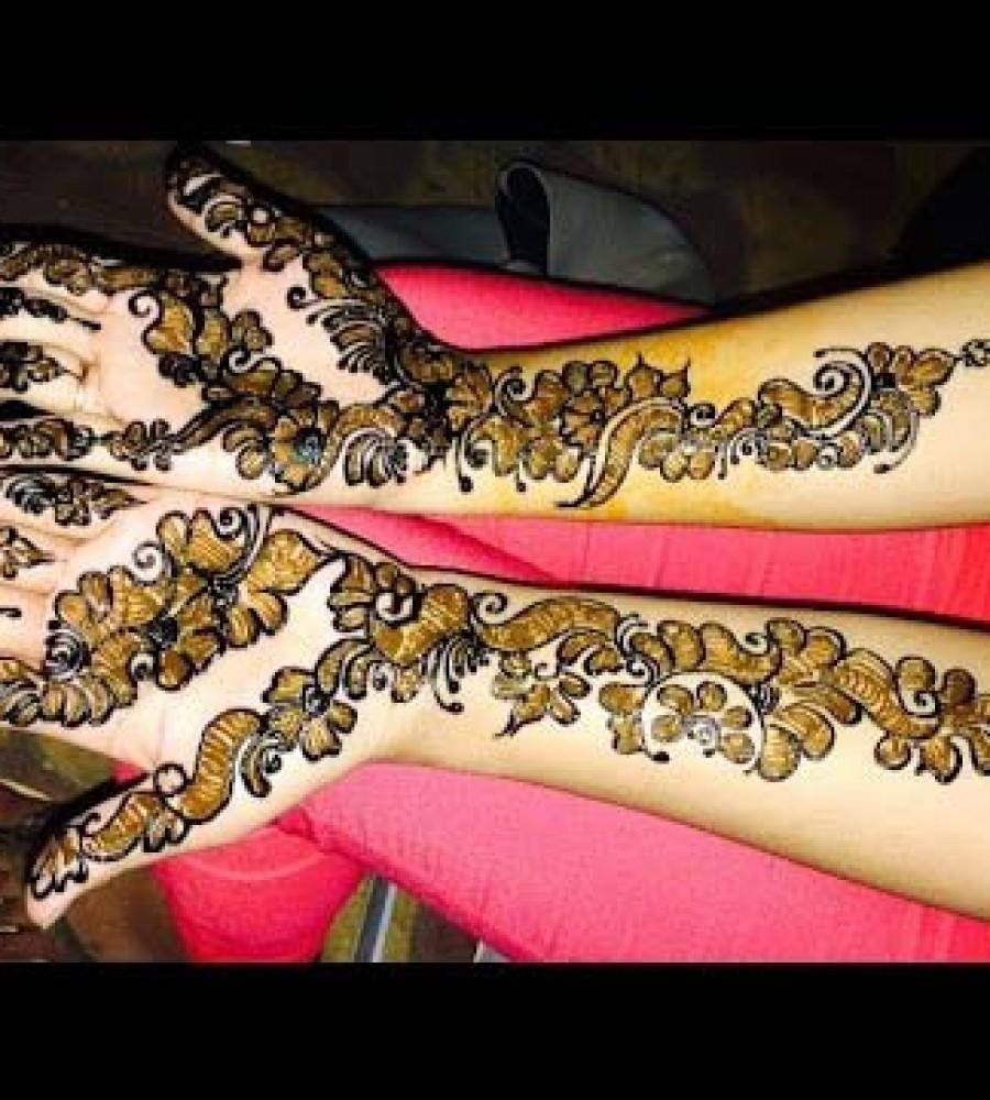 Latest Shaded Henna Mehndi : Mehndi design with shading makedes