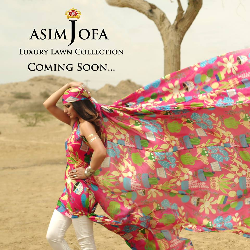 Asim Jofa Luxury Eid Lawn Collection 2016 for Women