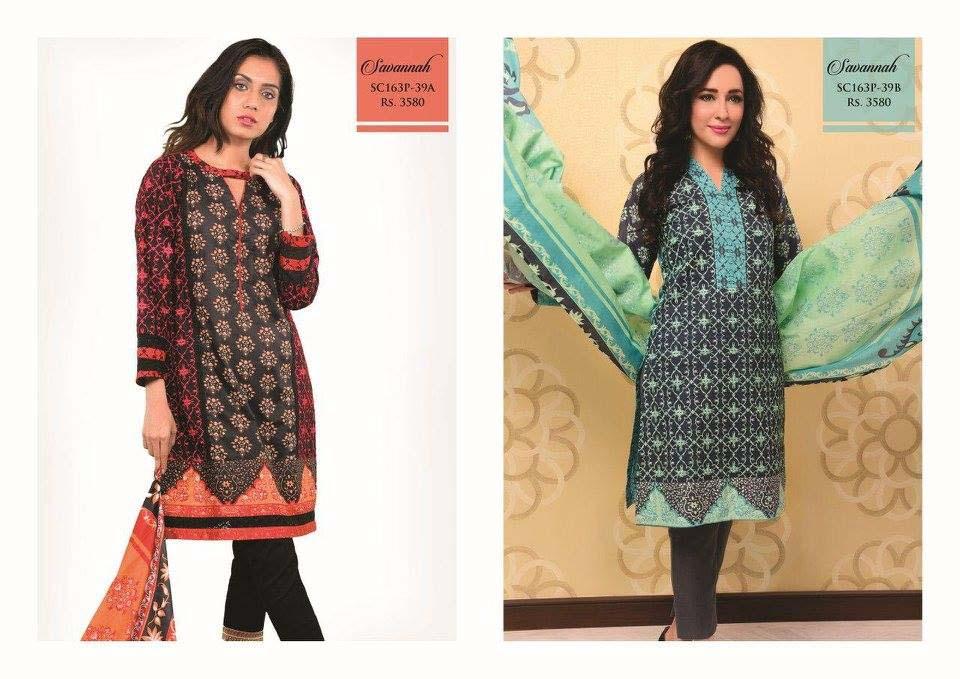 Bonanza Satrangi Lawn Eid Dresses Collection 2016 (16)