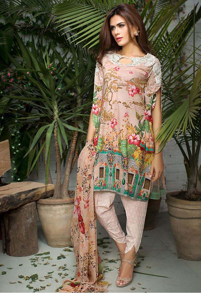 Cross Stitch Summer Eid Dresses Collection for Women 2016 (2)