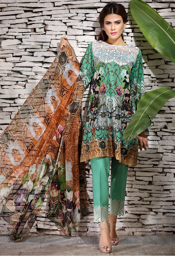 Cross Stitch Summer Eid Dresses Collection for Women 2016 (3)