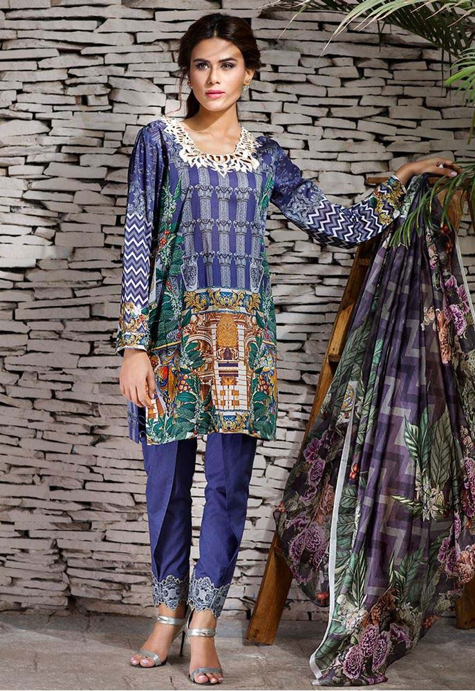 Cross Stitch Summer Eid Dresses Collection for Women 2016 (5)