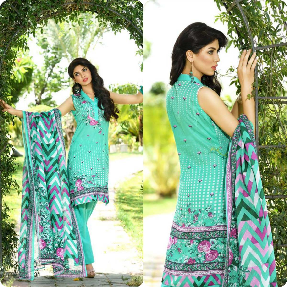 Firdous Korean Lawn Festive Eid Dresse Collection 2016-2017 look Book (5)
