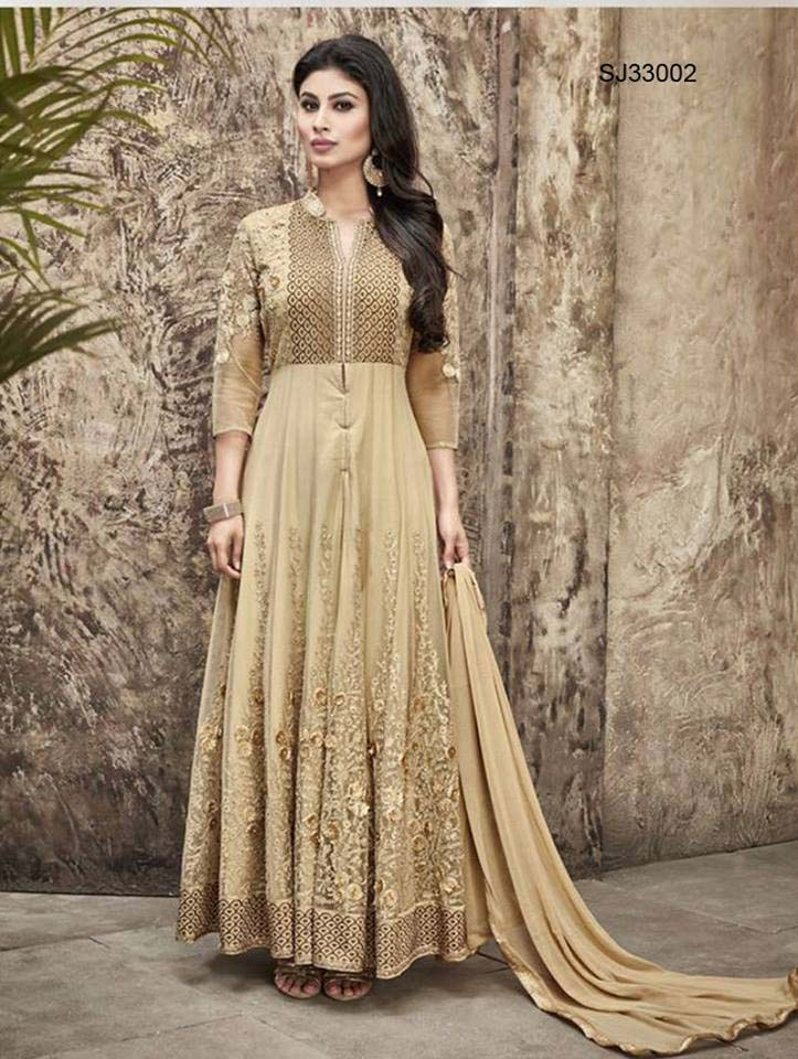 Floor Length Anarkali Frocks & Suits Collection 2016-2107 (13)
