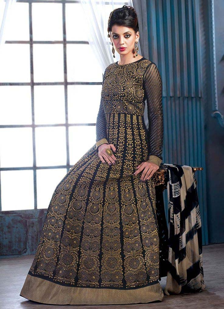 Floor Length Anarkali Frocks & Suits Collection 2016-2107 (17)