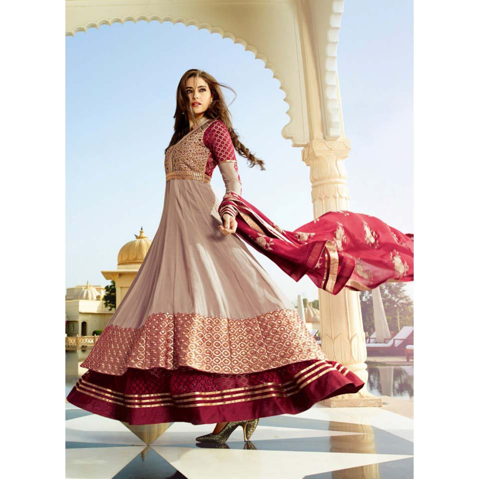 Floor Length Anarkali Frocks & Suits Collection 2016-2107 (4)